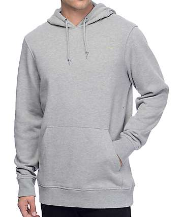 Zine Standard Fleece Heather Grey Pullover Hoodie
