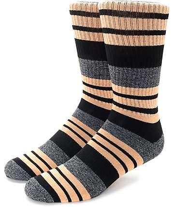 Zine Street Charcoal & Salmon Crew Socks