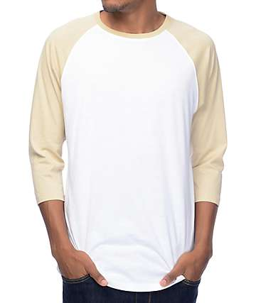Zine Strike Out Tan & White Baseball T-Shirt