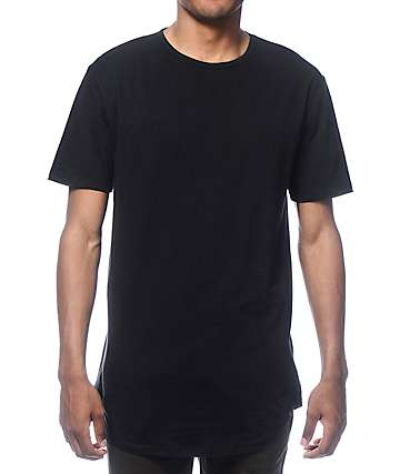 Zine Tall Scoop Black Long T-Shirt