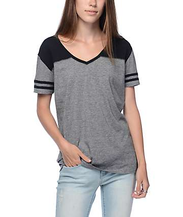 Zine Tanner Black Mini Stripe Varsity T-Shirt