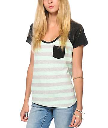 Zine Tempo Mint Stripe T-Shirt