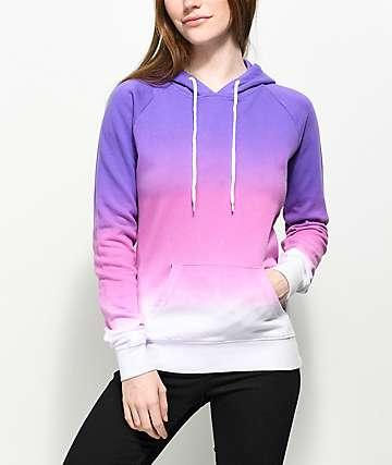 Zine Tera Ombre Purple & Pink Hoodie