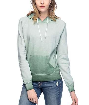 Zine Tera Sage Green Pigment Spray Dyed Hoodie