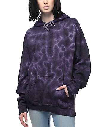 Zine Tera sudadera con capucha y efecto tie dye
