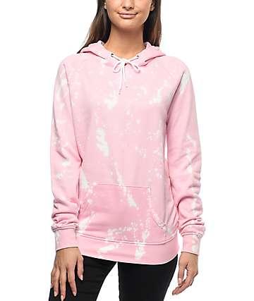 Zine Tera sudadera rosa blanqueada con capucha