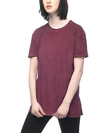 Zine Tibbie Burgundy Pigment T-Shirt