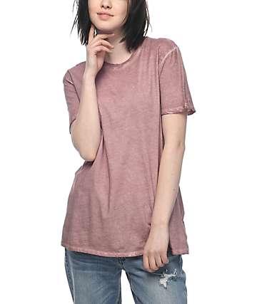 Zine Tibbie camiseta en color rosa
