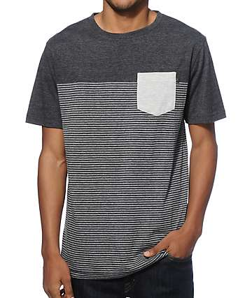 Zine Tip Top Stripe Pocket T-Shirt