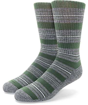 Zine Tock calcetines en colores carbón y verde olivo