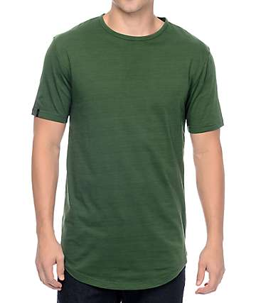 Zine Top Shelf Heather Olive Long T-Shirt