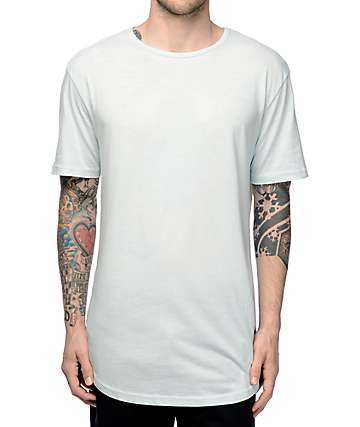 Zine Top Shelf Light Blue Elongated T-Shirt