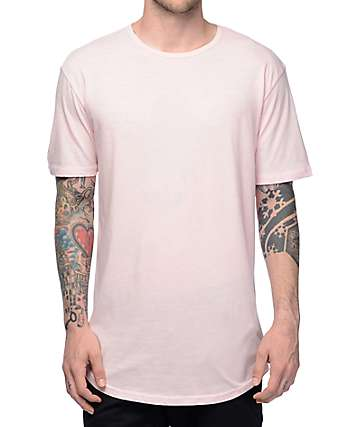 Zine Top Shelf Light Pink Elongated T-Shirt