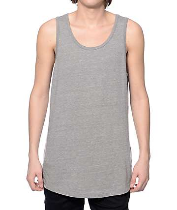 Zine Tower Heather Grey Long Tank Top