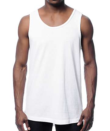 Zine Tower White Tall Tank
