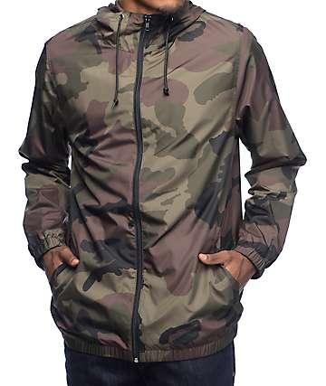 Zine Training Camo chaqueta cortavientos forrada