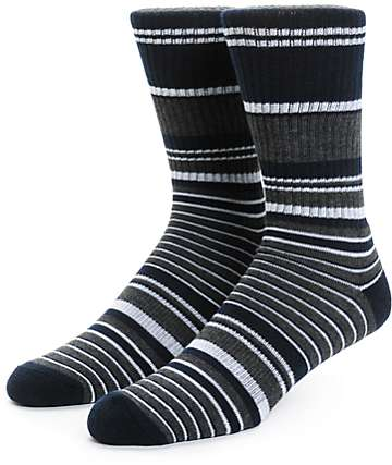 Zine Traveler Stripe Crew Socks