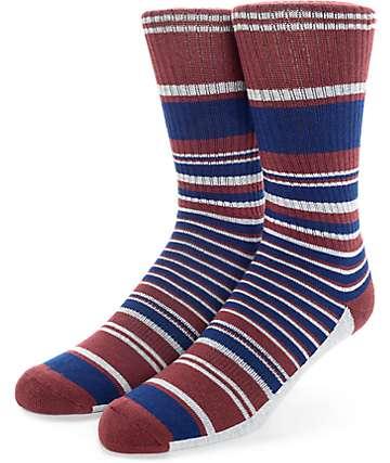 Zine Traveler calcetines rojos y azules marinos