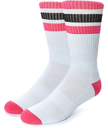 Zine Trunkicular Grey, Pink & Black Crew Socks