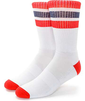 Zine Trunkicular Grey Stripe Crew Socks
