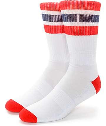 Zine Trunkicular Grey Stripe Crew Socks