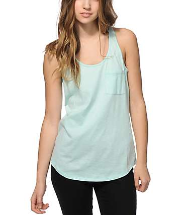 Zine Twist Mint Tank Top