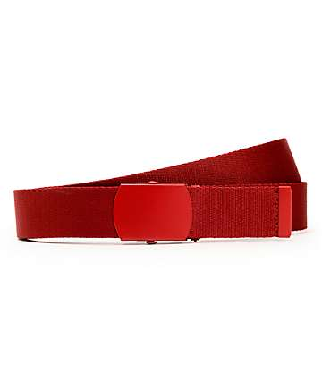 Zine Webster Burgundy Web Belt