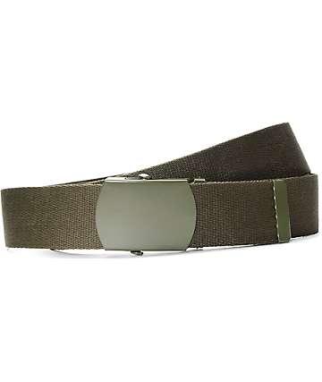Zine Webster cinturón en color verde olivo