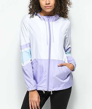 Zine Xander Lavender & White Windbreaker Jacket