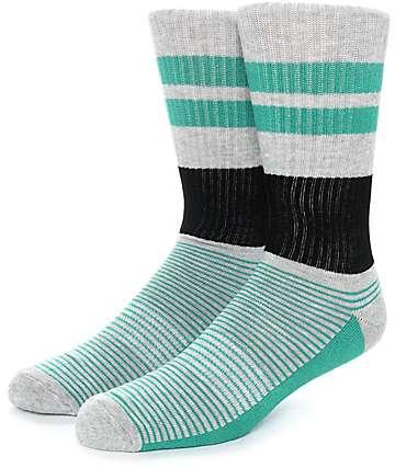 Zine You Betchya calcetines en gris, negro y verde