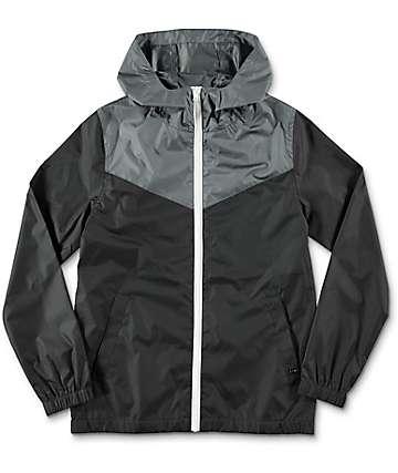 Zine Youth Sprint chaqueta cortavientos en negro y gris