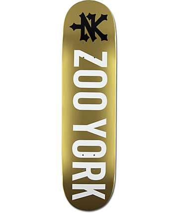 "Zoo York Photo Incentive Gold 8.0"" Skateboard Deck"