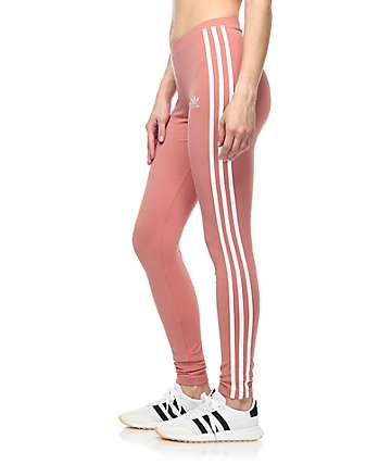 adidas 3 Stripe Mauve Leggings
