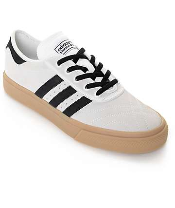 adidas Adi Ease Premiere White, Black, & Gum Skate Shoes