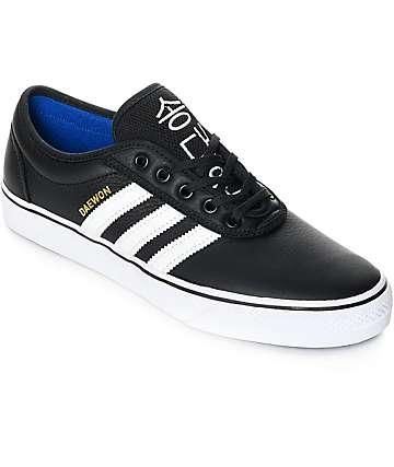 adidas AdiEase Daewon zapatos de cuero en blanco y negro