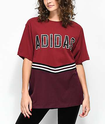 adidas Adibreak Burgundy Collegiate T-Shirt