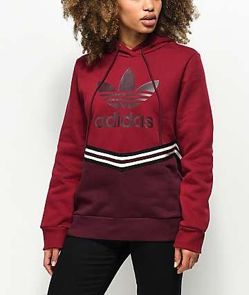 adidas Adibreak Collegiate Burgundy Hoodie