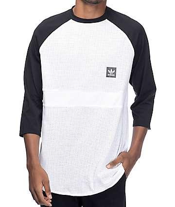 adidas Aeroknit Raglan Black & White T-Shirt