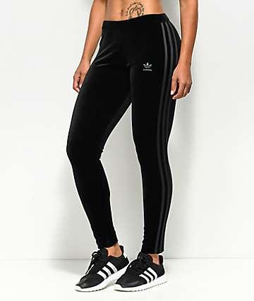 adidas Black Velvet Leggings