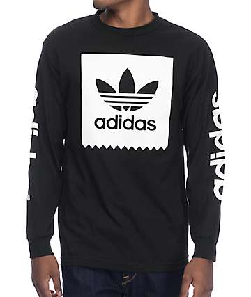 adidas Blackbird Black Long Sleeve T-Shirt