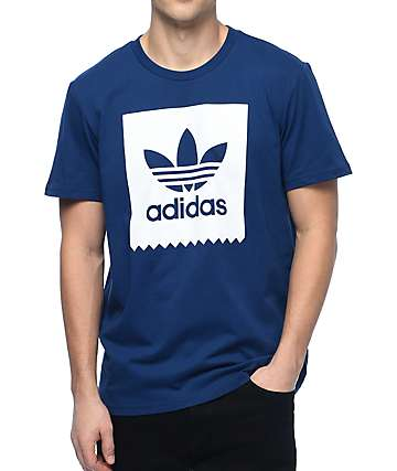 adidas Blackbird Logo Fill Navy T-Shirt