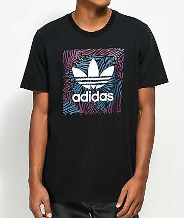 adidas Blackbird Palm Black T-Shirt