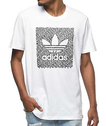 adidas Blackbird Word Camo White T-Shirt