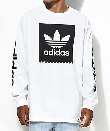 adidas Blackbird camiseta blanca de manga larga
