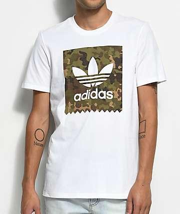 adidas Blackbird camiseta camuflada blanca