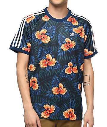adidas Blue Floral Jersey