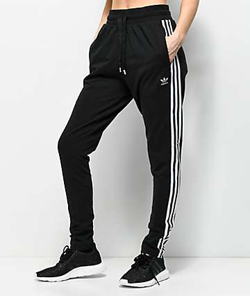 adidas Bold Age 3 Stripe Black Sweatpants