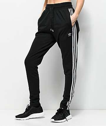 adidas Bold Age 3 Stripe Black Sweatpants