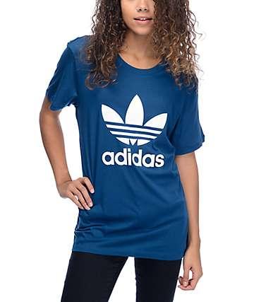adidas Boyfriend Trefoil Blue T-Shirt