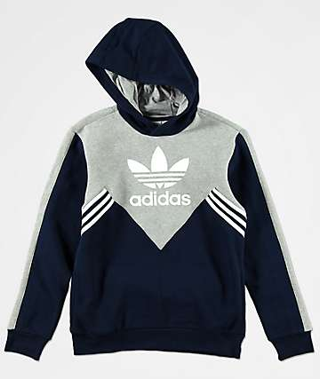 adidas Boys Angled Striped Hoodie